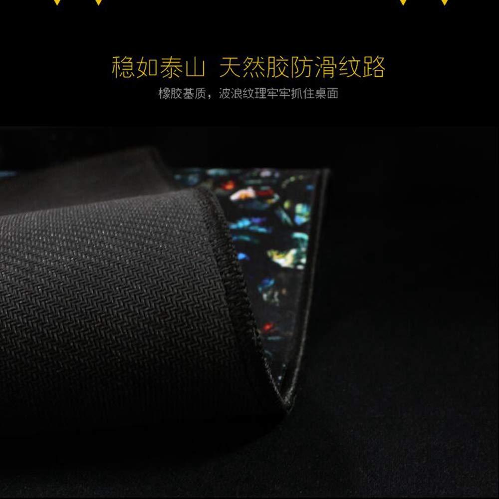 Tzsysb Alfombrilla de ratón extra grande de a prueba de grande agua cosiendo mouse pad teclado mouse pad juego oficina antideslizante tapete de tabla Patrón de la planta,90cm×50cm×0.3cm c63cb9