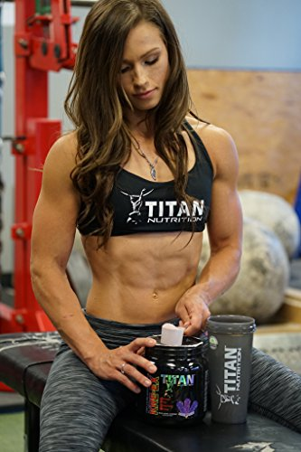 KRE EX: The Complete Pre-Workout Muscle Volumizer for Energy, Stamina, Strength, Size, and Pump (Blue Raspberry) by Titan Nutrition (Image #3)