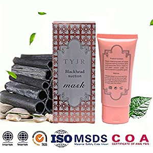 Blackhead Remover Mask,Black Peel Off mask,Purifying Bamboo Charcoal Strip Blackhead Acne Mud Facial Mask 2.11 OZ