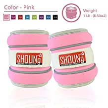 SHOUNg Reflective Ankle Weights/Wrist Weights(1-8LB) with Adjustable Strap