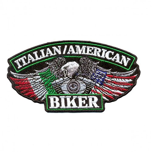 - Hot Leathers, ITALIAN/USA BIKER FLAGS, Iron-On / Saw-On Rayon PATCH - 5