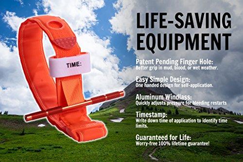 Recon-Medical-ORNGTQTourniquet-ORANGE-Gen-3-Mil-Spec-Kevlar-Metal-Windlass-Aluminum-First-Aid-Tactical-Swat-Medic-Pre-Hospital-Life-Saving-Hemorrhage-Control-Registration-Card-1-Pack