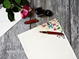 100 Stationery Writing Paper, with Cute Floral