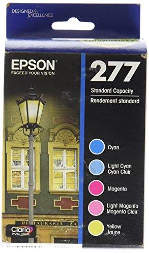 Epson T277920 Epson Claria Photo HD 277 Standard-capacity Color Multi-pack - Cyan, Magenta, Yellow, Light Cyan, Light Magenta (T277920) Ink