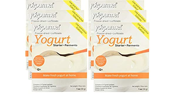 YOGOURMET: Freeze-Dried Yogurt Starter, 1 oz - 6Pack: Amazon.com: Grocery & Gourmet Food