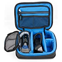 Protective EVA Shaver / Sharing Case (in Blue) - Compatible with Braun Series 3 ProSkin 3090CC - by DURAGADGET