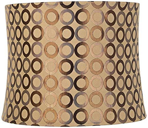 Copper Circles Drum Lamp Shade 13x14x11 (Spider) - Springcrest