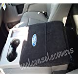 Fits Ford F150 F250 Truck Jump Seat Models 2004-2018 Officially Licensed Ford Embroidered Truck Armrest Cover for Center Console Lid Your Console Should Open and Match Photo Shown Black