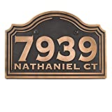 Arched Classic Address Plaque 15x10 - Raised Bronze Metal Coated Sign