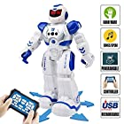 Remote Control RC Robot Toys – ROKKES Dancing Robot Kit For Kids , Robotic Toys With Infrared Controller, Programmable, Senses Gesture, LED Eyes, Singing, Speaking, BEST Robot Toy For Boys And Girls