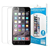 Power Theory iPhone 7 Plus / 8 Plus Screen Protectors [2-Pack] Premium Tempered Glass Screen Protector with Easy App Install Kit for Apple iPhone7/iPhone8 Plus