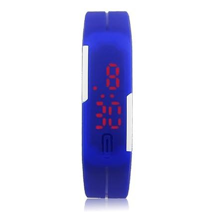 Xinantime Relojes Hombre Mujer,Xinan Ultra Thin Silicón Deportes LED Digital Reloj Pulsera Deportivo (
