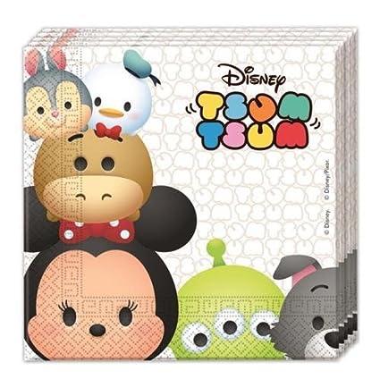 Procos Disney – Peluche Tsum Tsum del papel partido almuerzo Servilletas (paquete de 20)