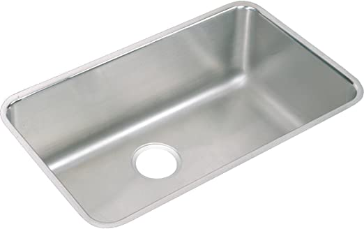 Elkay Lustertone ELUH281612 Single Bowl Undermount Stainless Steel Kitchen  Sink