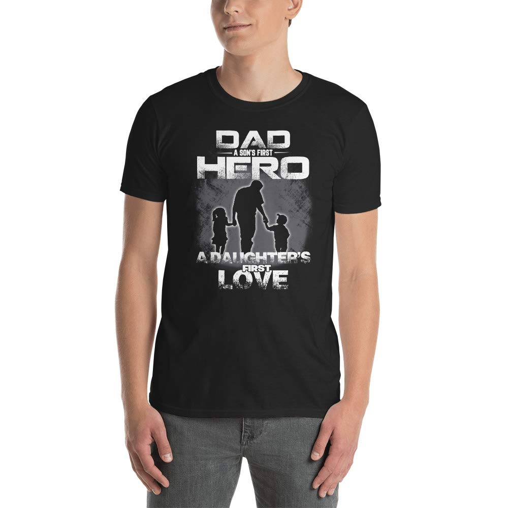 lucoin Dad A Sons First Hero A Daughters First Love T-Shirt Unisex