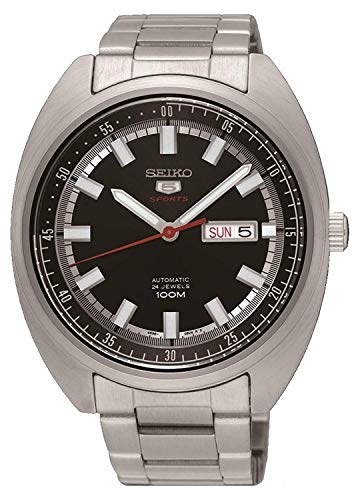 - SEIKO 5 'Turtle' Sports 100M Watch Black Dial SRPB19K1