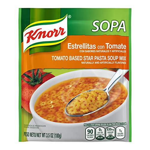 Knorr Pasta Soup Mix, Tomato Based Star Pasta, 3.5 oz (Pack of 12)