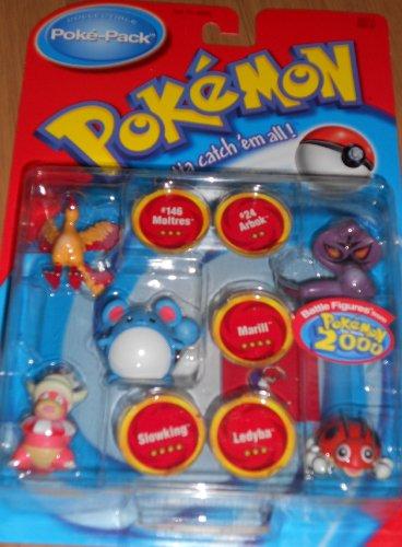 Hasbro Pokemon Poke-pack Slowking Ledyba Marill #24 Arbok...