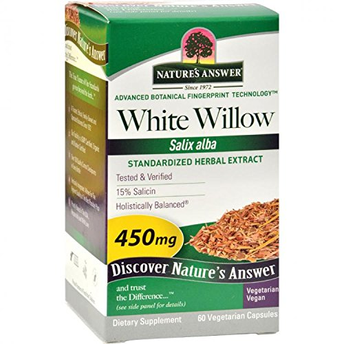 Nature's Answer White Willow, Bark Standardized 60 Vcaps by Nature's Answer