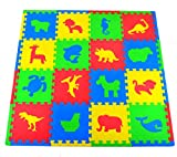 Toys : Joyin Toy 16 PCs Kids Puzzle Play Mat with Farm Animals, Safari Animals, Sea life, Dinosaur patterns
