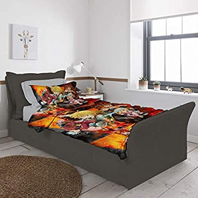 GASDFEFSD Mens Womens Kids Decorative Super Soft The Seven Deadly Sins Twin 2 Piece Bedding Set with 1 Pillow Shams 55