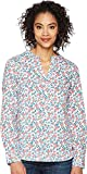 U.S. Polo Assn.. Women's Long Sleeve Fancy Poplin Blouse, Optic White-Opwh, XL