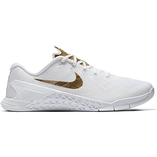 Nike - Performancemetcon 3 amp - Zapatillas Fitness e Indoor - White/Metallic Gold: Amazon.es: Zapatos y complementos