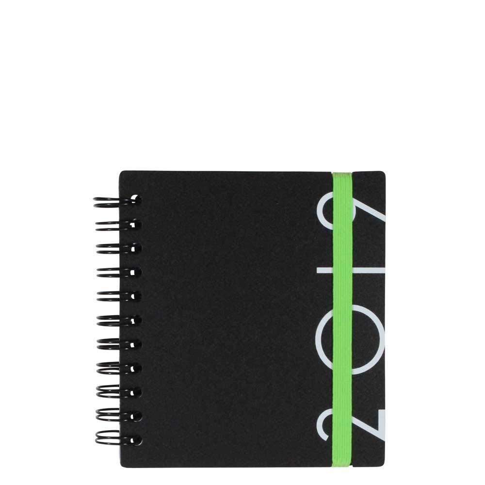 Agenda 2019 compacta negra con vista semanal, color verde ...