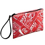 Medium wristlet made from Coke can - FREE SHIPPING - coca cola upcycled recycled clutch art handmade style design Fair trade ethical fun presents inspiring alternative ideas functional beautiful