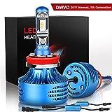 DWVO H11 LED Headlight Bulbs, 6.5K 16000Lm Philips Chip Conversion Kit Hi & Lo Beam Super Bright IP68 Waterproof