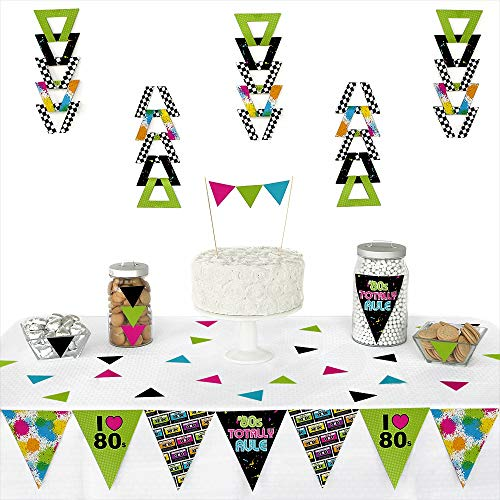 80's Retro - Triangle Totally 1980s Party Decoration Kit - 72 -