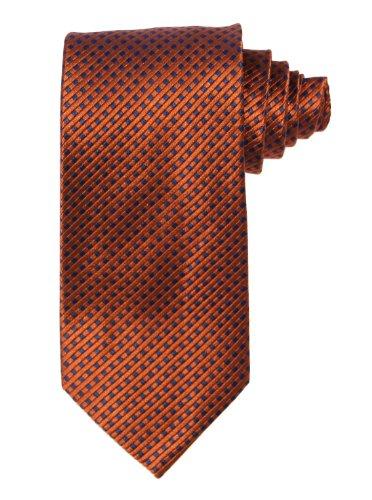Magnoli Clothiers Copper Hamburg Pure Silk Tie ()