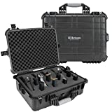 Elkton Outdoors Hard Gun Case: Fully Customizable Pistol Case: Holds 5 Handguns and 10 Magazines: Crush Resistant & Waterproof!
