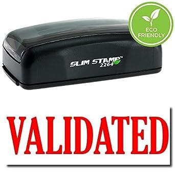 Pre Inked Validated Stamp Black Ink