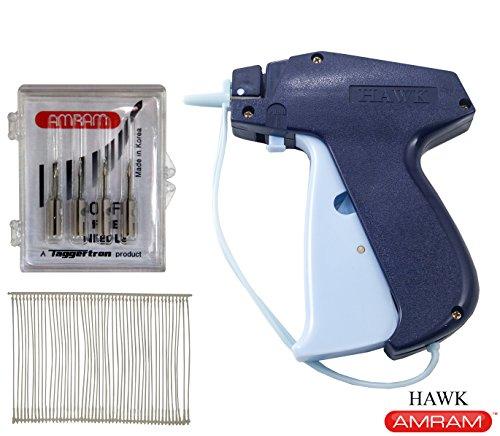 Barbs 5 Needles (Amram Hawk Fine Tag Attaching Tagging Gun BONUS KIT with 5 Needles and 1250 2