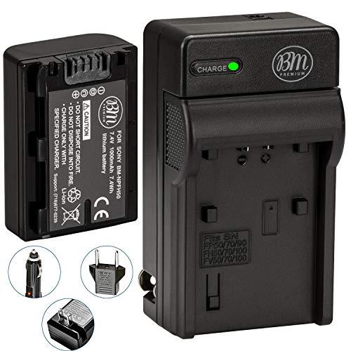 Big Mikes BM Premium NP-FH50 Battery and Charger for Sony CyberShot DSC-HX1 DSC-HX100V DSC-HX200V HDR-TG5V DSLRA230 DSLRA290 DSLRA330 DSLRA380 DSLRA390 Digital SLR Cameras
