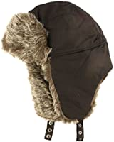 Winter Men's Warm Lined Faux Fur Trooper Trapper Pilot Ski Snow Hat Cap Black