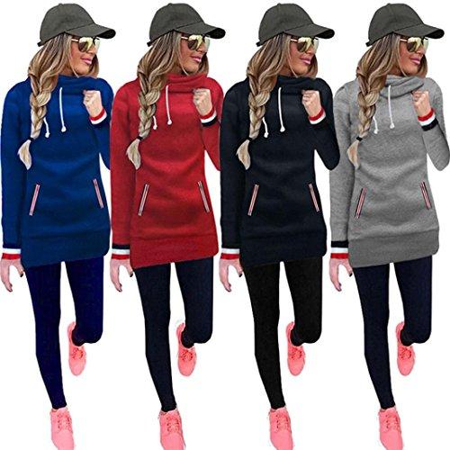 Han Shi Hoodies, Women Long Sleeve Blouse Turtleneck Sweatshirt Pullovers Tops T-Shirt
