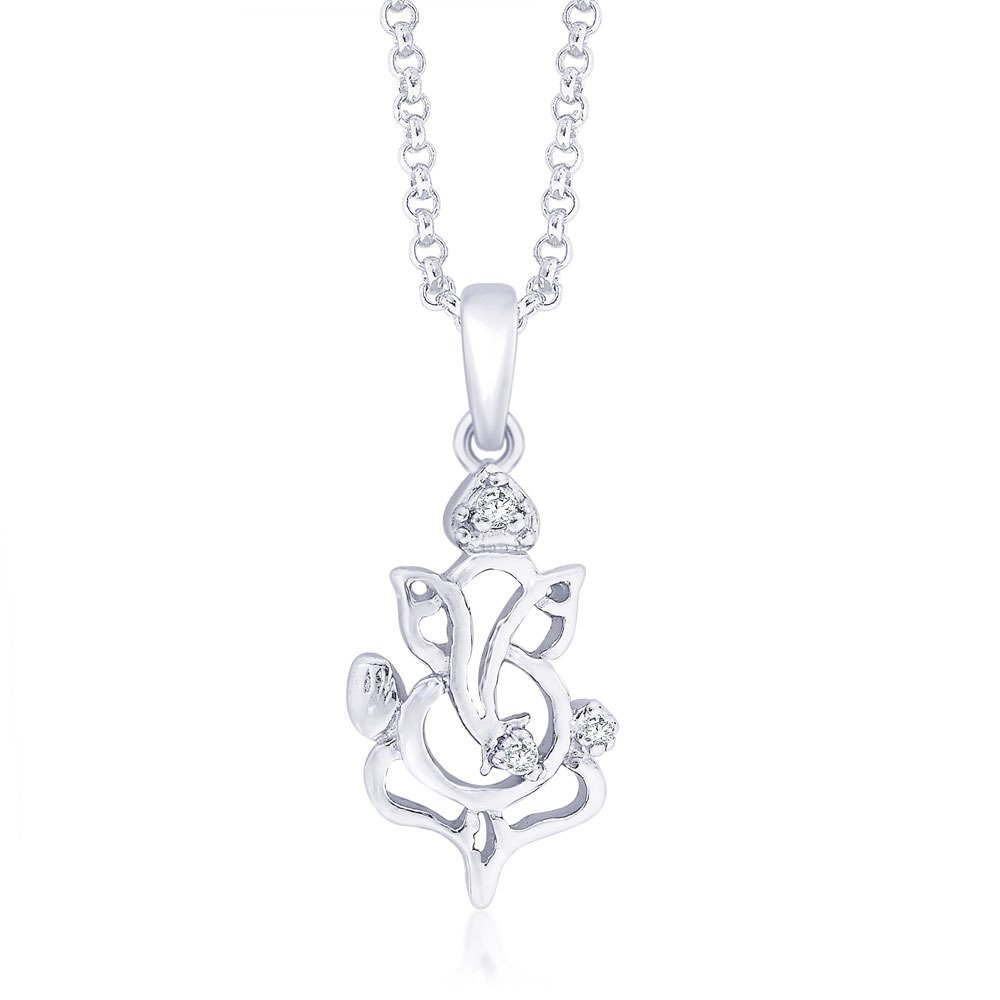 5f0e0a34d Buy Taraash CZ Ganesh 925 Sterling Silver Pendant For Unisex PD1582R Online  at Low Prices in India | Amazon Jewellery Store - Amazon.in