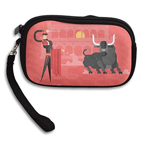 Receiving Small Deluxe Purse Man Portable Bag Bullfighting Printing xqpfwFA