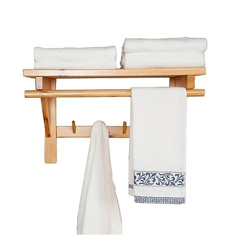 AFDK Toalla de baño de madera de cedro Perchero para hotel ...