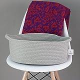 ICEBLUE Cotton Rope Storage Basket Bin Box Multipurpose Basket 15''X11''X6.2''