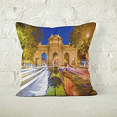 Amazon.com: Nine City Madrid Spain Throw Pillow Cover,HD ...