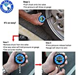 P.I. Auto Store Professional Digital Tire Pressure Gauge. 200Psi. Heavy Duty, highly accurate. With storage pouch. Best for all vehicles.Great gift for DAD