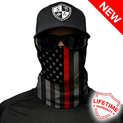 Salt Armour Face Shield | Blackout Thin Red Line American Flag