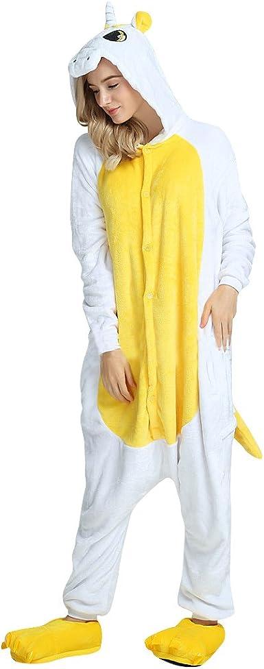 Luckly Cloud-UK Costume Anime Unicorno Pigiama Cerniera da Bagno Monopezzi e Tutine da Donna Unisex Bambini e Adulti Altezza da 90cm a 180cm