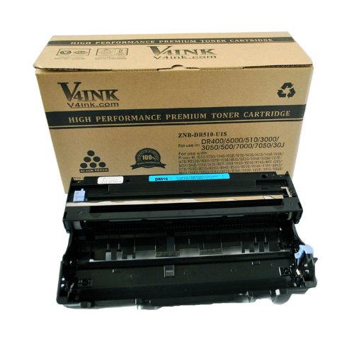 V4INK New Compatible Brother DR510 DR400 Drum Unit for Brother HL-1030 1230 1240 1250 1270N 1435 1440 1450 1470 FAX-4100 4100e 4750e 5750e MFC-8300 8500 8600 8700 9600 9700 Printer