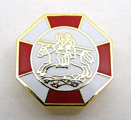 Masonic Preceptory Knights Templar Enamel Badge in Gift Pouch
