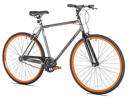 Takara Sugiyama Flat Bar Fixie Bike, 700c, Gray/Orange, Medi