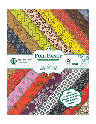 Paperhues Foil Fancy Collection Scrapbook Papers 8.5x11